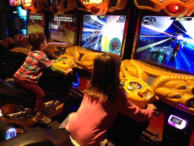 At the arcade.